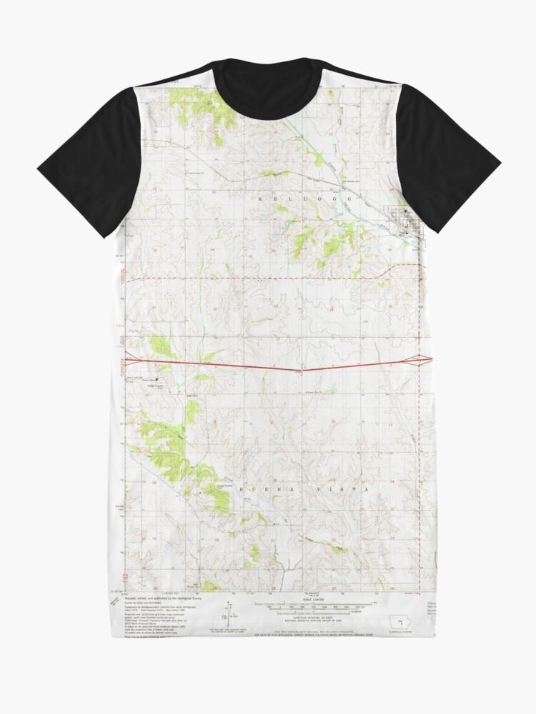 Alternative Ansicht von usgs topo maps iowa ia kellogg 174915 1980 24000 wetdryvac  T-Shirt Kleid