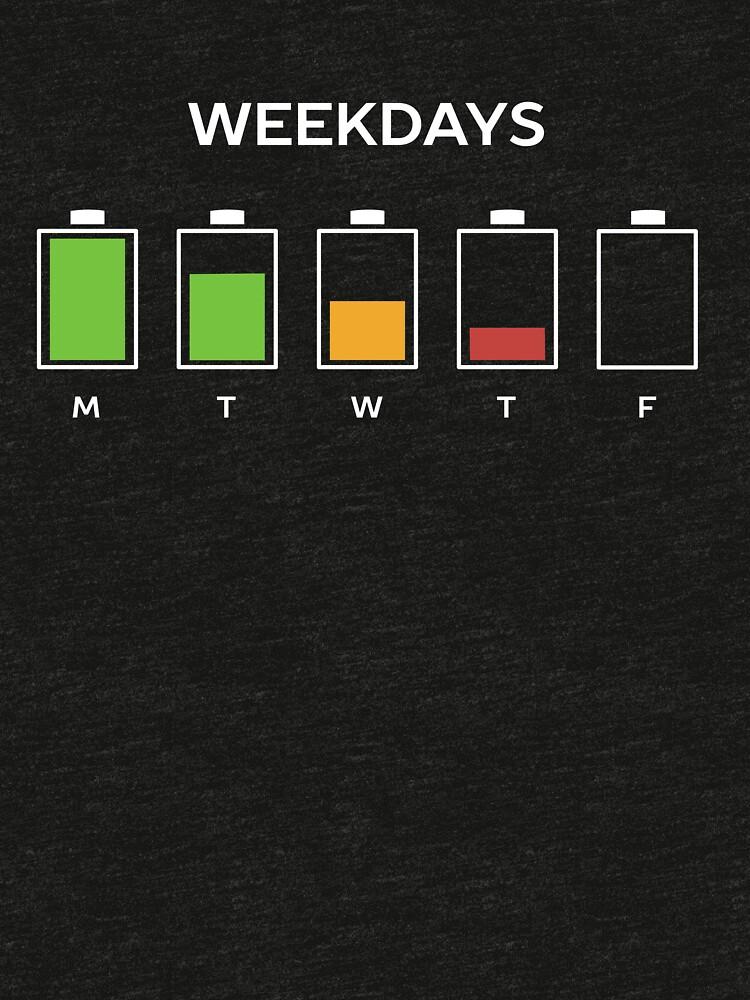 Weekdays Work Humor  by happinessinatee