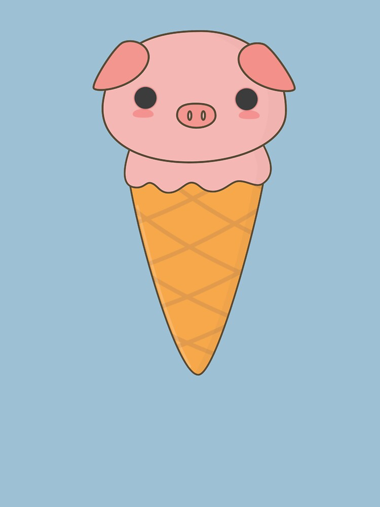 Kawaii Cute Ice Cream Pig  by happinessinatee