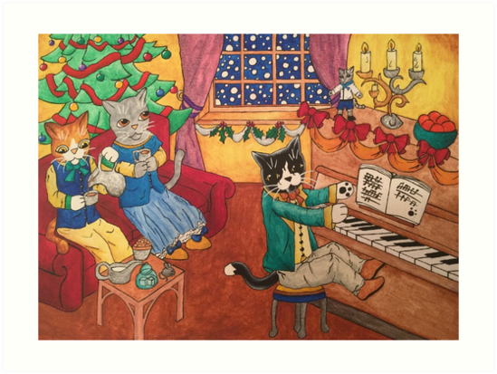 Victorian Christmas Cats by Acrylic-Cats