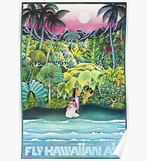 FLY HAWAIIN AIR Poster