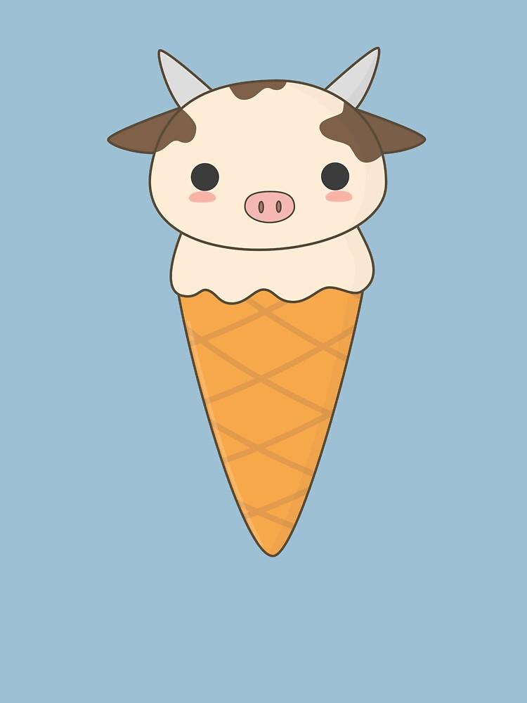 Kawaii Cute Ice Cream Cow  by happinessinatee