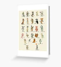 ABC Animals Alphabet Poster Greeting Card