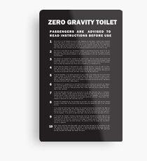 2001 A Space Odyssey Zero Gravity Toilet Instructions Metal Print