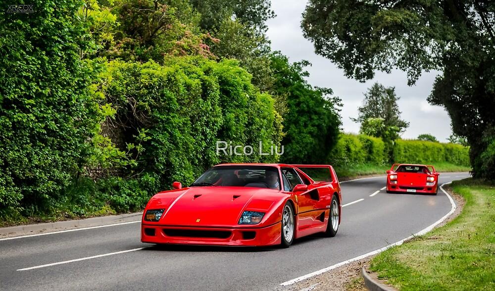 2 Ferrari F40  by Rico Liu