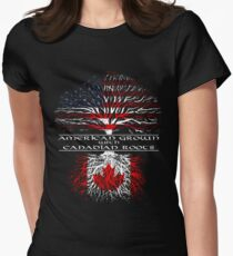 American Grown with Canadian Roots Womens Fitted T-Shirt