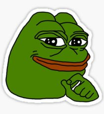 Pepe The Frog Happy Sticker