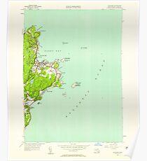 Massachusetts  USGS Historical Topo Map MA Rockport 350500 1949 24000 Poster