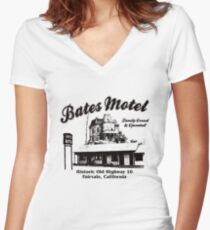 Bates Motel Logo Women's Fitted V-Neck T-Shirt
