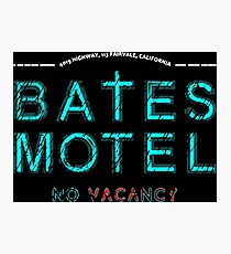 Bates Motel Light Logo Photographic Print