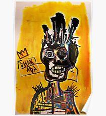 Basquiat African Skull Man Poster