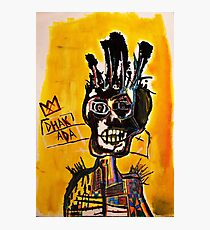 Basquiat African Skull Man Photographic Print