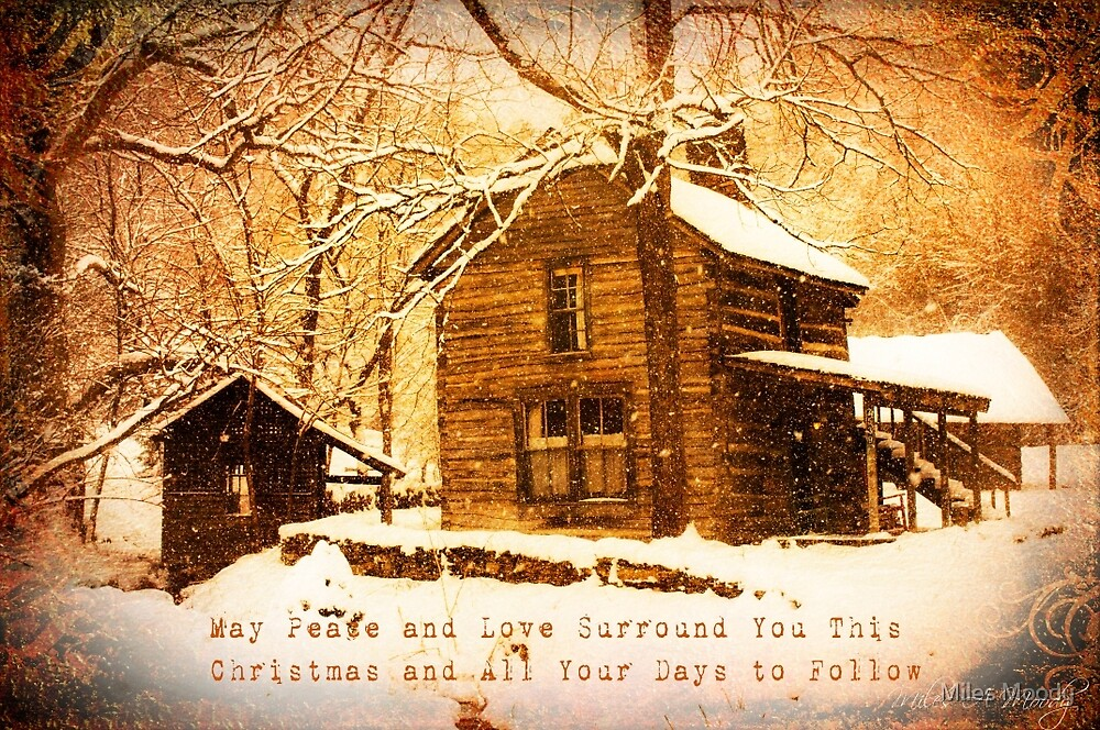 Winter Homeplace Greeting Card by Miles Moody