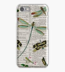 Dragonflies on Psalms 121 iPhone Case/Skin