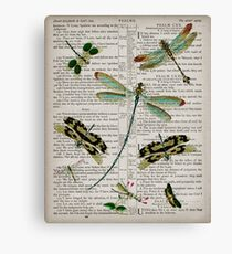 Dragonflies on Psalms 121 Canvas Print