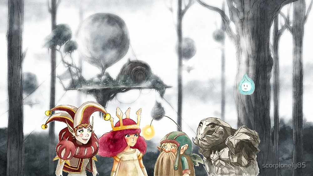 Child of Light characters by scorpionely85