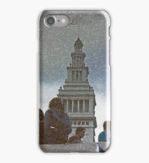 San Francisco Ferry Building Reflection in a Puddle iPhone Case/Skin