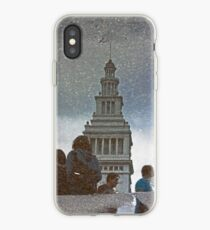 San Francisco Ferry Building Reflection in a Puddle iPhone Case