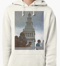 San Francisco Ferry Building Reflection in a Puddle Pullover Hoodie
