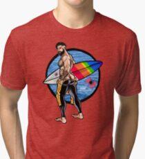 Bullethole Surfer: Hung Ten Tri-blend T-Shirt