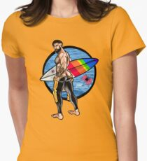 Bullethole Surfer: Hung Ten Womens Fitted T-Shirt
