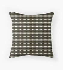 Black Gold and White Royal Aztec Tribal Pattern Throw Pillow