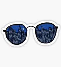 City Glasses Sticker