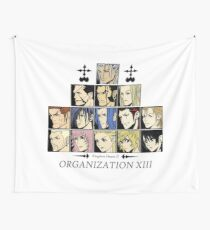 Kingdom hearts II Organization 13 (color) Wandbehang