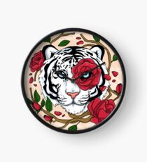 White Tiger Clock