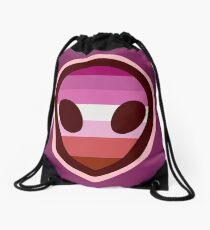 Lesbian Alien Drawstring Bag