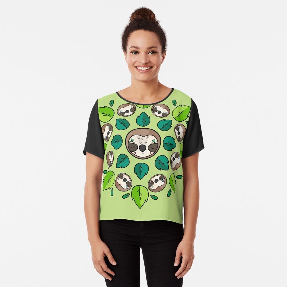 Mandala Sloth Chiffon Top