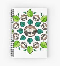 Mandala Sloth Spiral Notebook