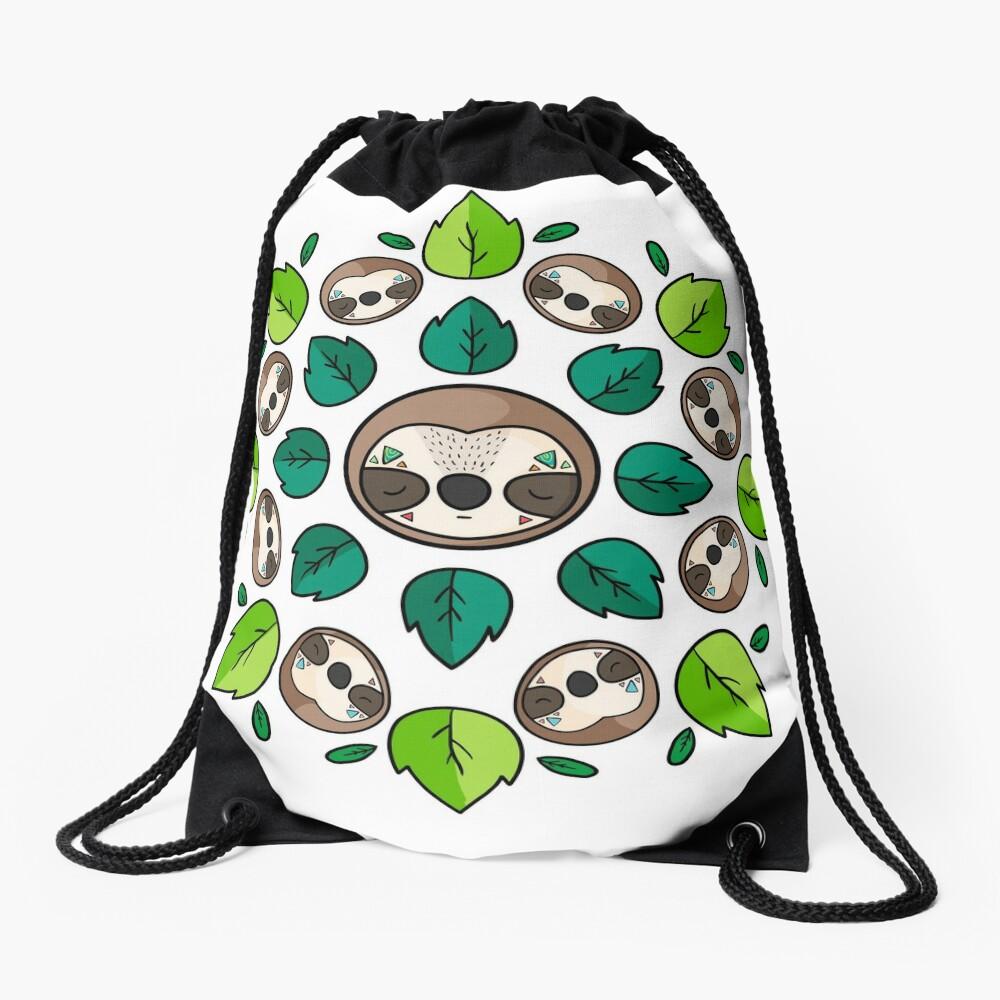 Mandala Sloth Drawstring Bag
