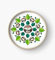 Mandala Sloth Clock