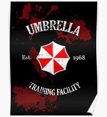Umbrella Training Facility Vintage Resident Evil (for dark colors) Poster