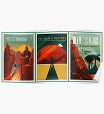 SpaceX Mars Colonization and Tourism Association Triptych Poster