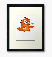 the fox and the bird Framed Print