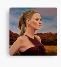 Blake Lively Painting Canvas Print