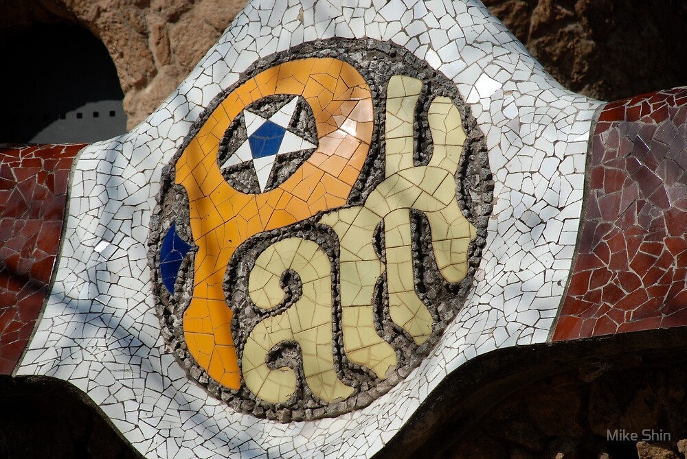 Mosaic at Parque Guell by Mike Shin