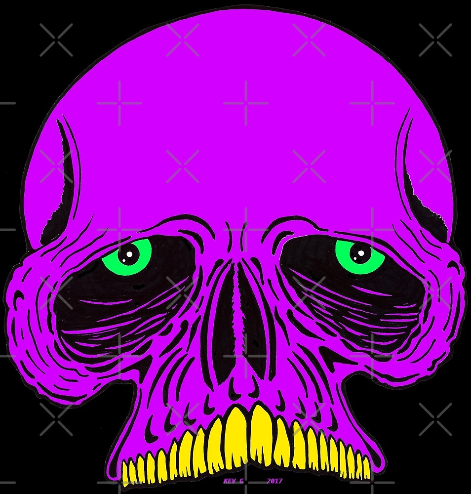 JAWLESS PURPLE SKULL - Art By Kev G by ArtByKevG
