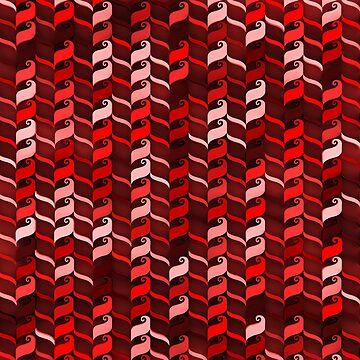 Geometric Pattern Red 2 by elektronen