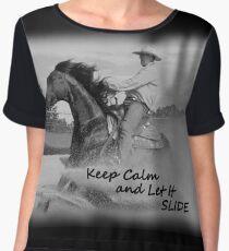 KEEP CALM. REINING HORSE Chiffon Top