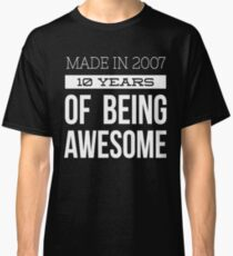 made in 2010 7 years old birthday boy girl t-shirt Classic T-Shirt
