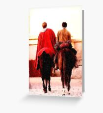 Arthur and Merlin Greeting Card