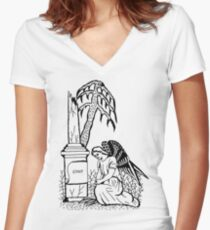 Gone and Forgotten Women's Fitted V-Neck T-Shirt