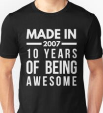 made in 2010 7 years old birthday boy girl t-shirt T-Shirt