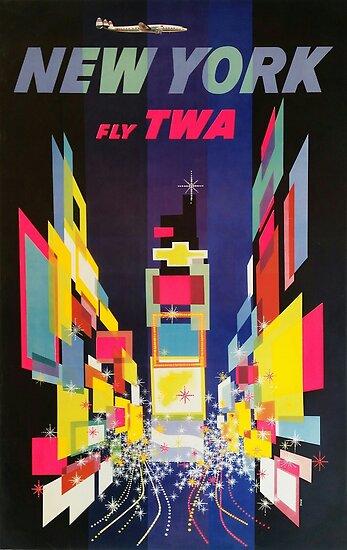 NEW YORK FLY TWA by vintagetravel