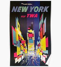 NEW YORK FLY TWA Poster