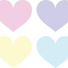 Pastel Hearts by Nicole Gerrier