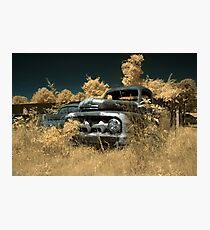 Abandoned 1952 Ford F-1 Pickup - infrared - 1 Photographic Print